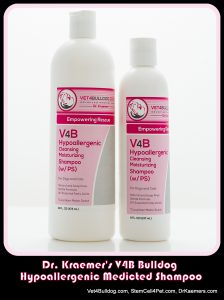 Dr. Kraemer's V4B Hypoallergenic Moisturizing Medicated Shampoo for Bulldogs and French Bulldogs