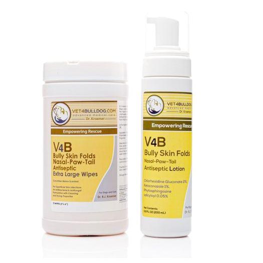 V4B Bulldog and French Bulldog Skin Fold Care Bundle