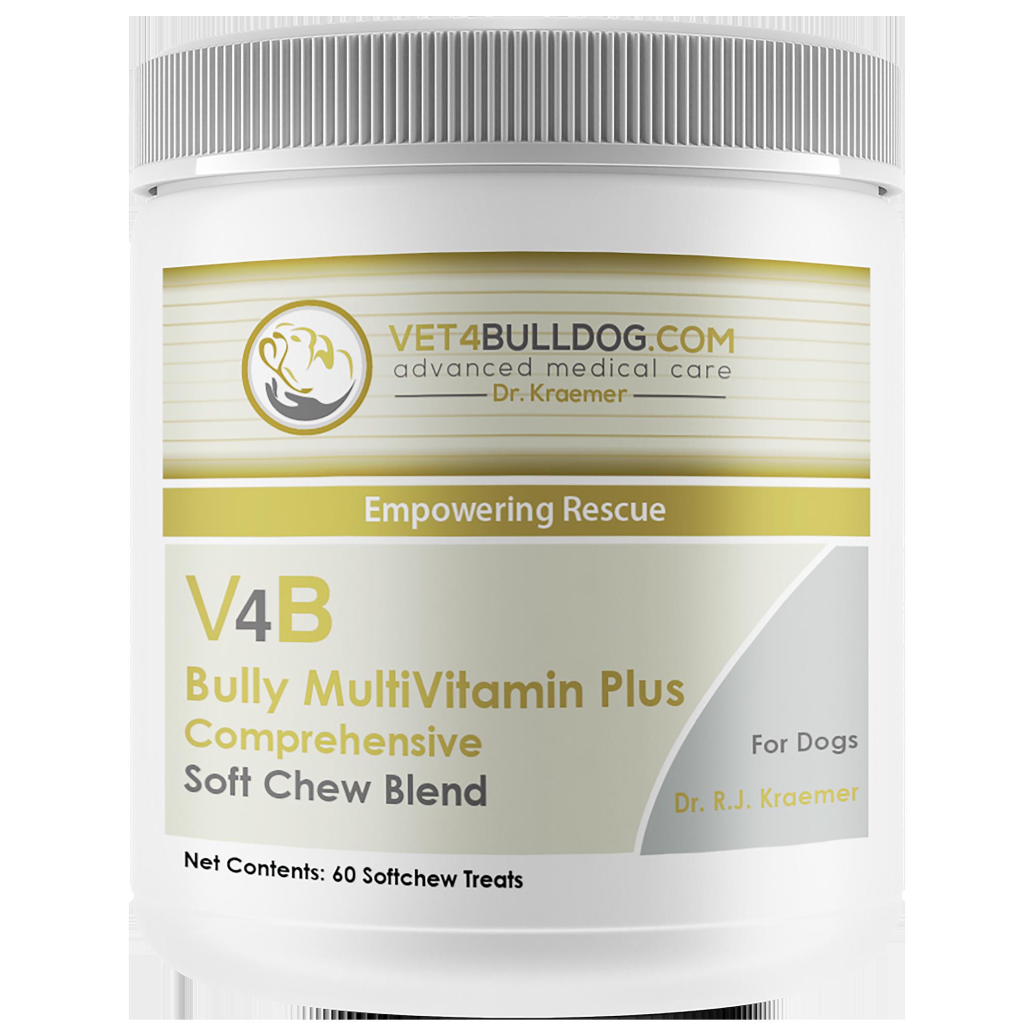 V4B Bully Multivitamin Plus for Bulldogs and French Bulldogs