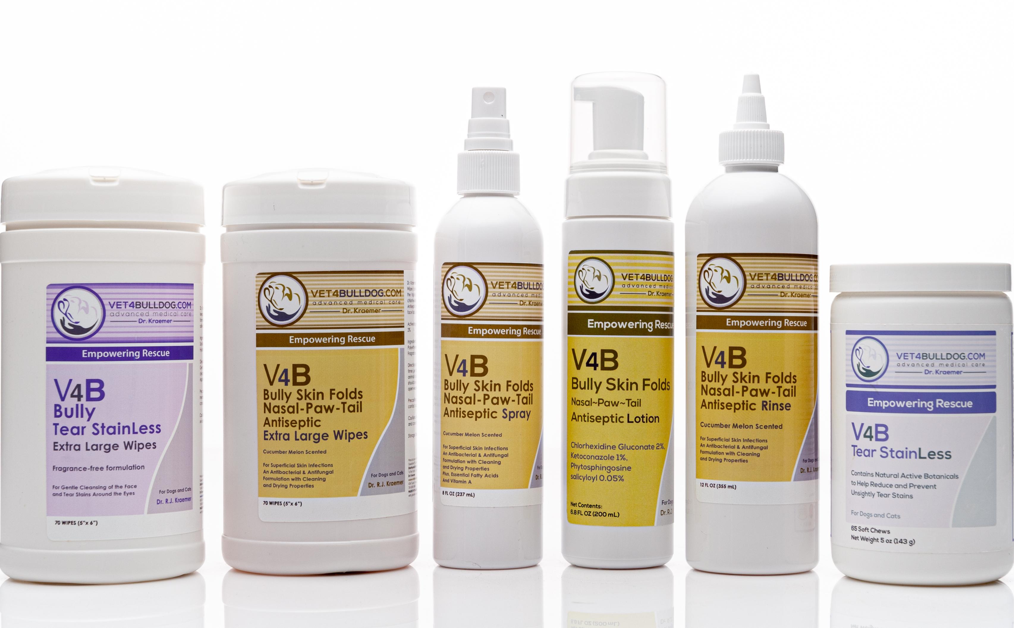 V4B Bulldog and French Bulldog Skin Fold Advance Economic Bundle