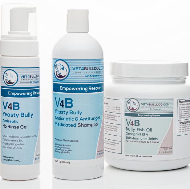 V4B Yeasty Bulldog Antiseptic Skin Care Advance Bundle