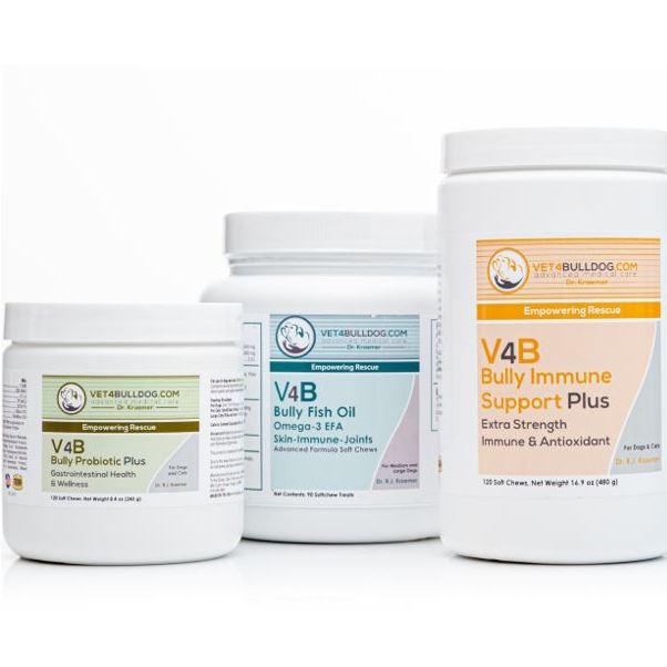 V4B Bulldog and French Bulldog Immune Boost Essential Bundle