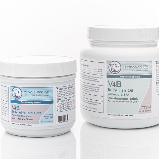 V4B Bulldog and French Bulldog Total Joint Bundle under 60lb