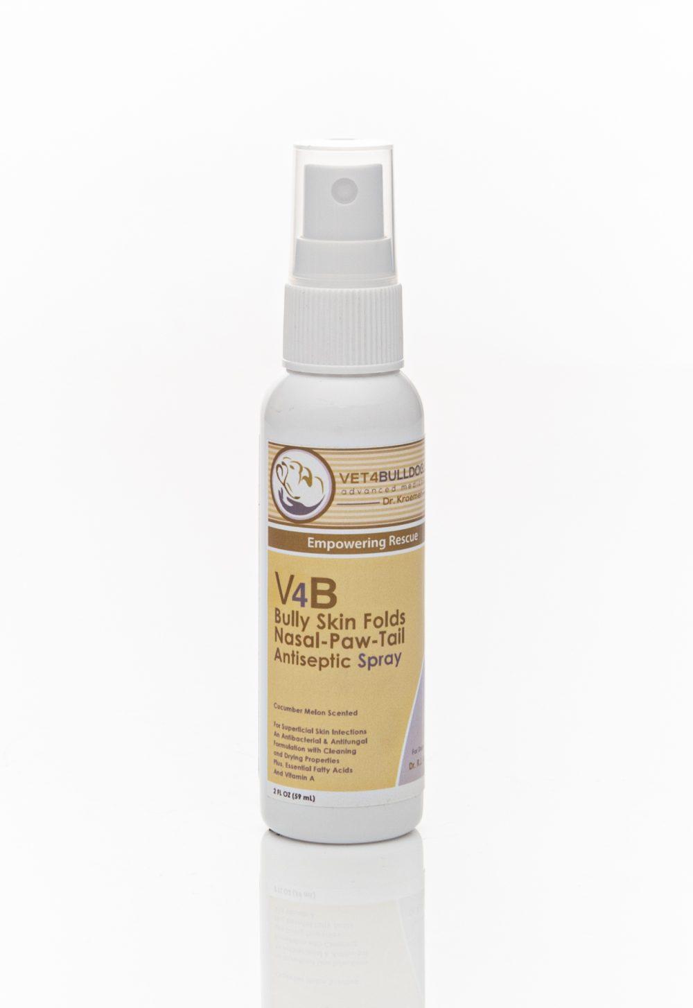 V4B Skin Fold Antiseptic Spray SAMPLE for Bulldogs and French Bulldogs