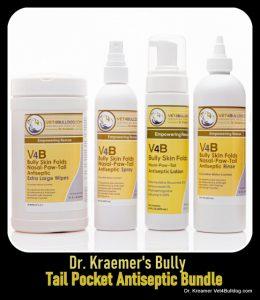 Bulldogs and French Bulldogs Tail Pocket Skin Fold Dermatitis wipe bundle